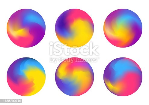 Set of abstract colorful balls isolated on white for Your bright design