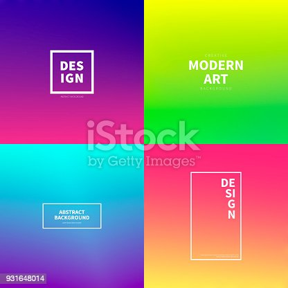 Set of four abstract backgrounds. Modern and trendy design with beautiful color gradients (blue, purple, pink, yellow, green, cyan, red, orange). Vector Illustration (EPS10, well layered and grouped). Easy to edit, manipulate, resize or colorize. Please do not hesitate to contact me if you have any questions, or need to customise the illustration. http://www.istockphoto.com/portfolio/bgblue
