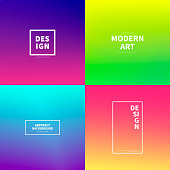 Set of abstract colorful gradient designs - Trendy background