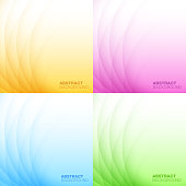 Set of Abstract Colorful Light Backgrounds.