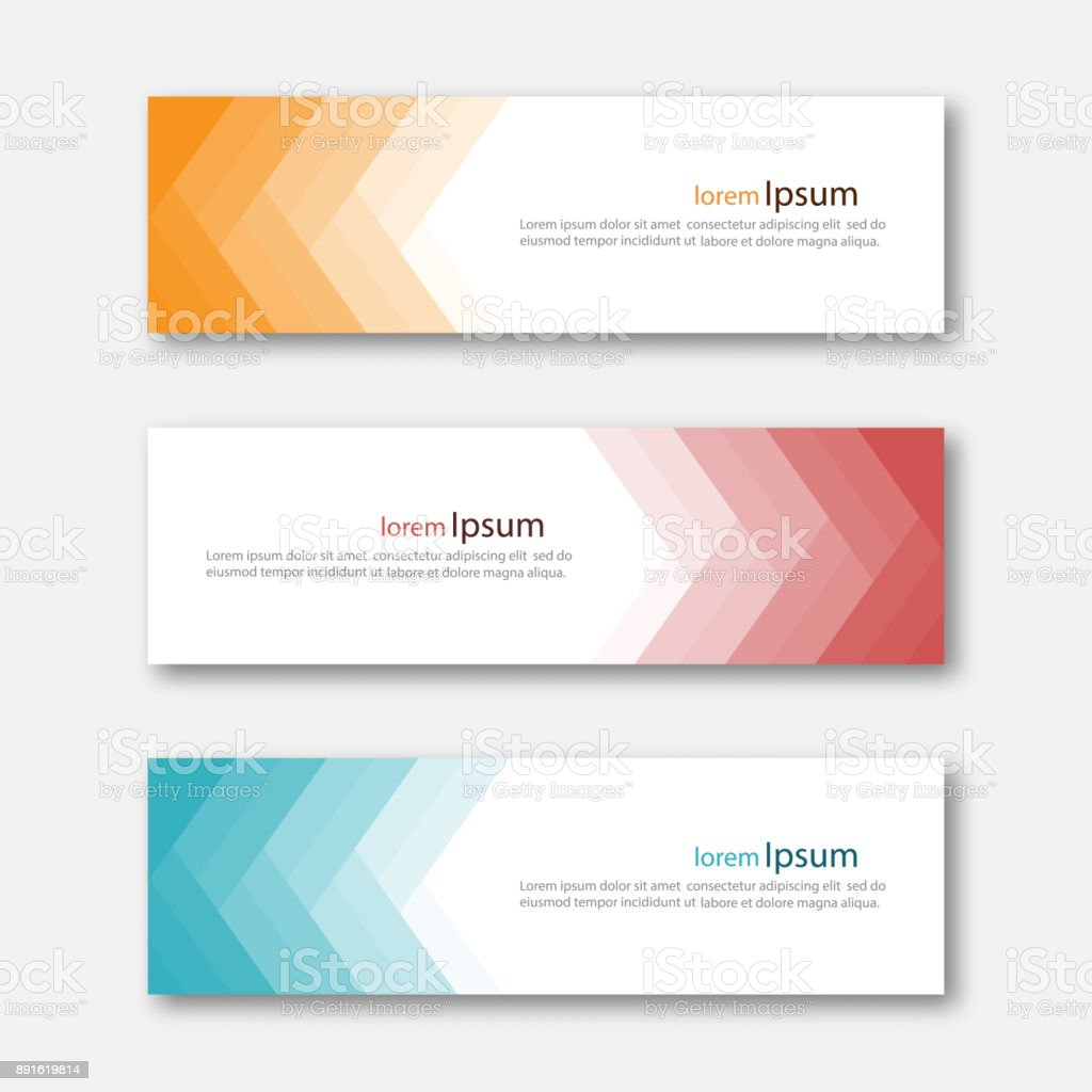 Set of abstract design banner template.
