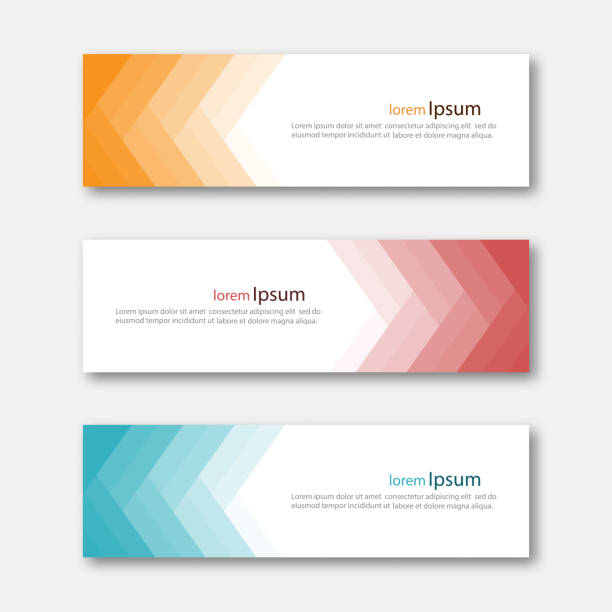 Set of abstract design banner template. vector art illustration