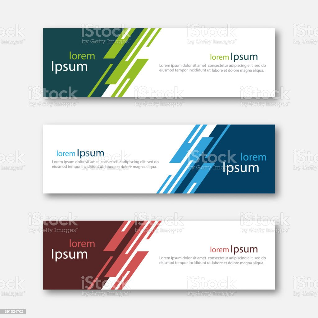 Set of abstract design banner template. royalty-free set of abstract design banner template stock illustration - download image now