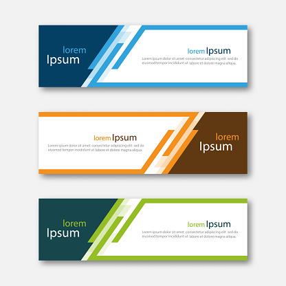 Set Of Abstract Design Banner Template Stock Illustration ...