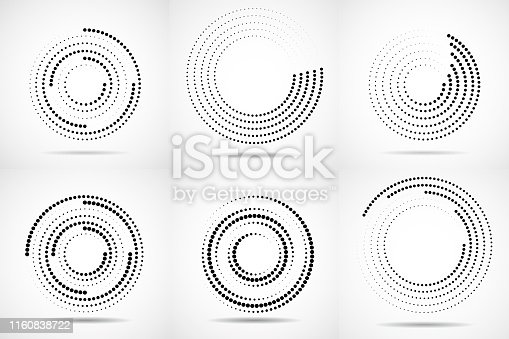 Set, Abstract, Circle, Dot, Halftone effect, Blurred Motion, Logo, Ball