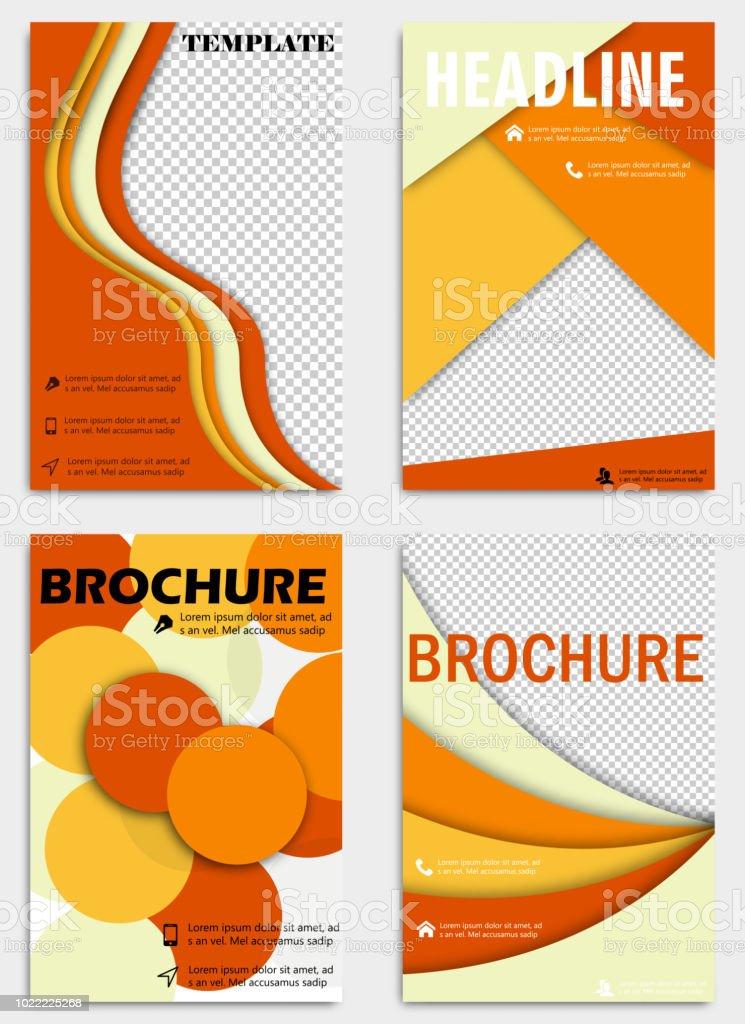 Reihe Von Abstrakten Flyer Design Hintergrund. Broschüren Und Vorlagen.  Jahresbericht Umfasst. Einsetzbar