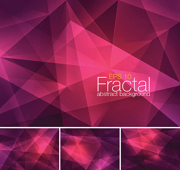 Set of abstract fractal backgrounds vector art illustration