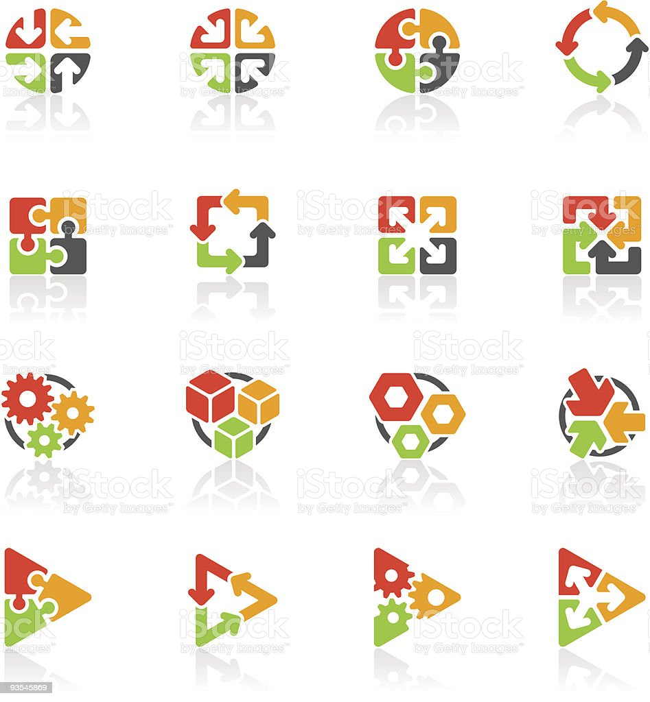 Set of abstract geometric icons vector art illustration