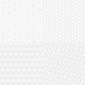 Set of abstract geometric textures - Trendy white background