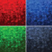 Abstract Polygon Vector Patterns