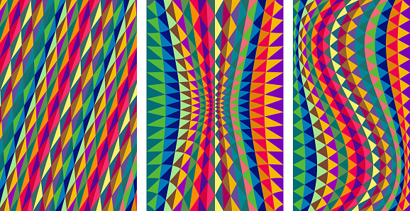 set of abstract geometrical  patterns
