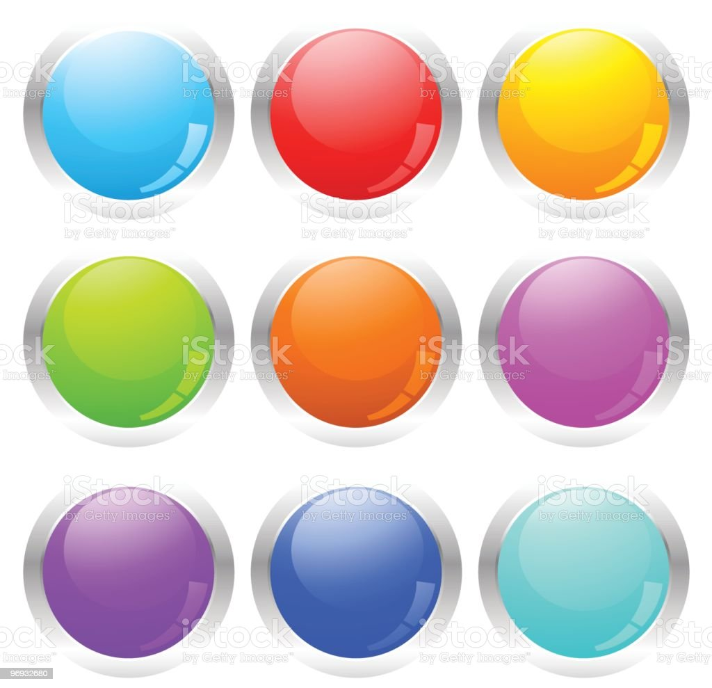 Set of abstract glossy buttons royalty-free set of abstract glossy buttons stock vector art & more images of abstract