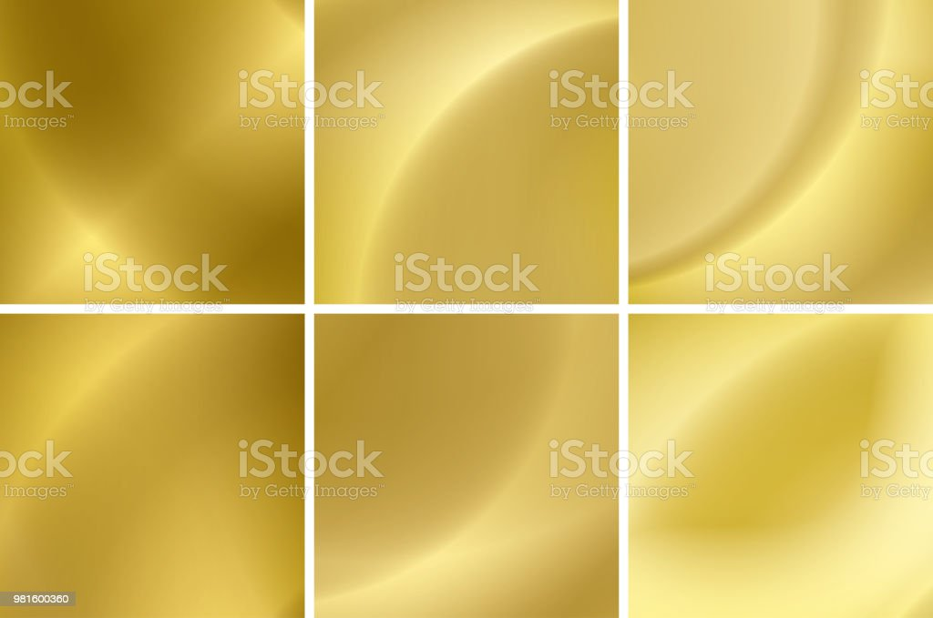 set of abstract gold neon backgrounds - vector vector art illustration