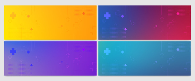 Set of Abstract gradient colorful Background