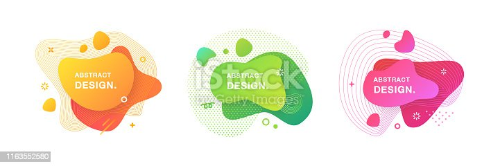 Set of Trendy Vector Banners.