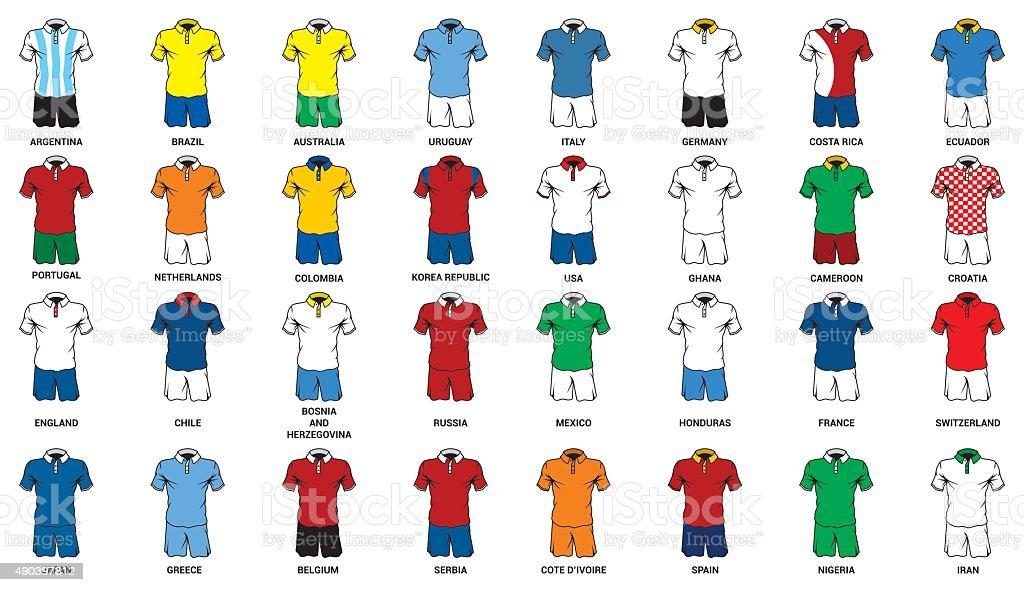 Conjunto de abstract ciudadanos uniforme de fútboli - ilustración de arte vectorial
