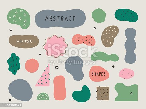 Abstract shapes and textures for design layouts — hand-drawn vector elements
