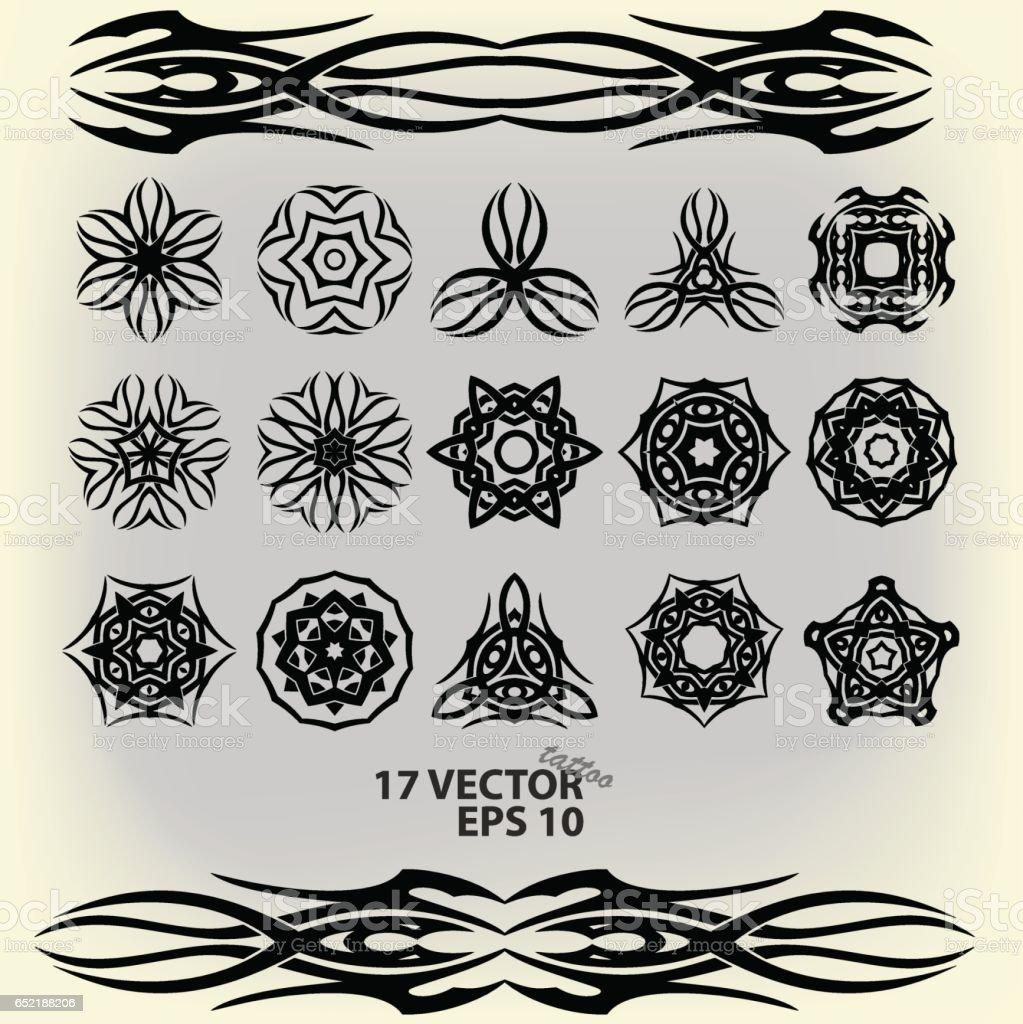Ilustración de Un Conjunto De Patrones Abstractos En Un Viejo ...
