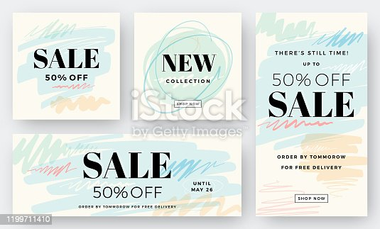 istock Set of Abstract Sale Backgrounds 1199711410