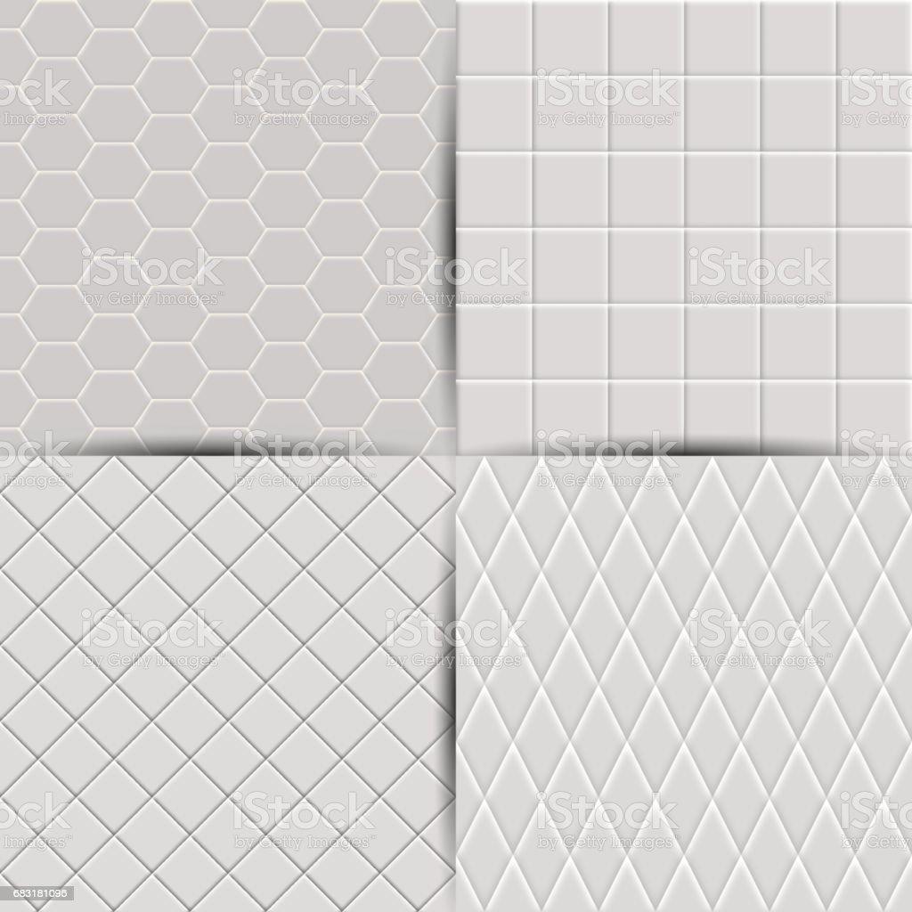 抽象的無縫瓷磚背景,向量圖的設置。 免版稅 抽象的無縫瓷磚背景向量圖的設置 向量插圖及更多 乾淨 圖片