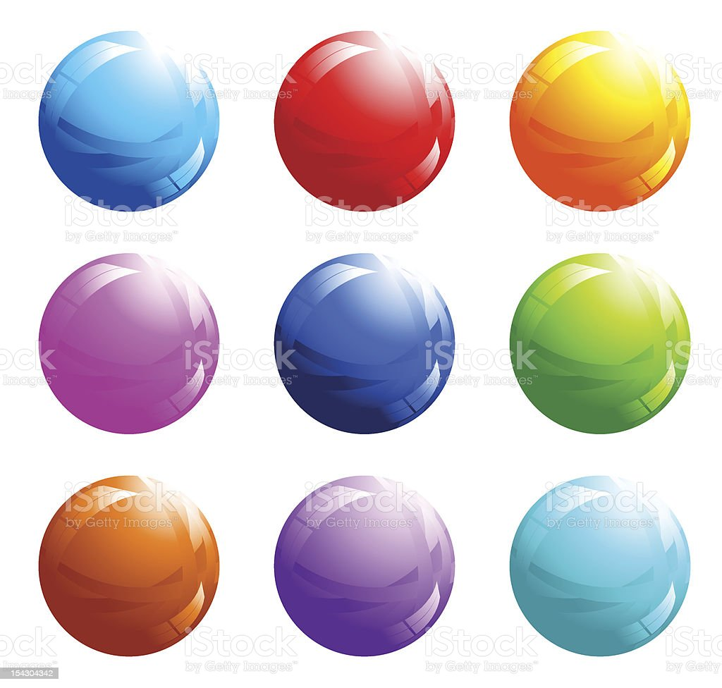 Set of abstract spheres royalty-free stock vector art