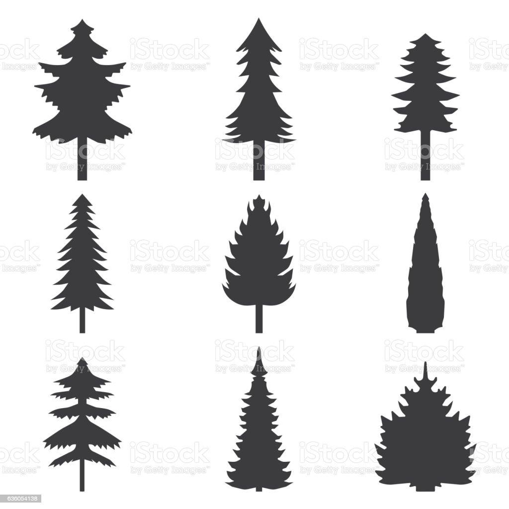 royalty free pine tree clip art vector images illustrations istock rh istockphoto com pine trees vector silhouette vector art of pine trees
