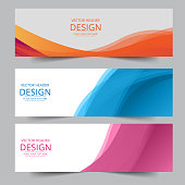 istock Set of abstract vector banners design. Collection of web banner template. 1185435607