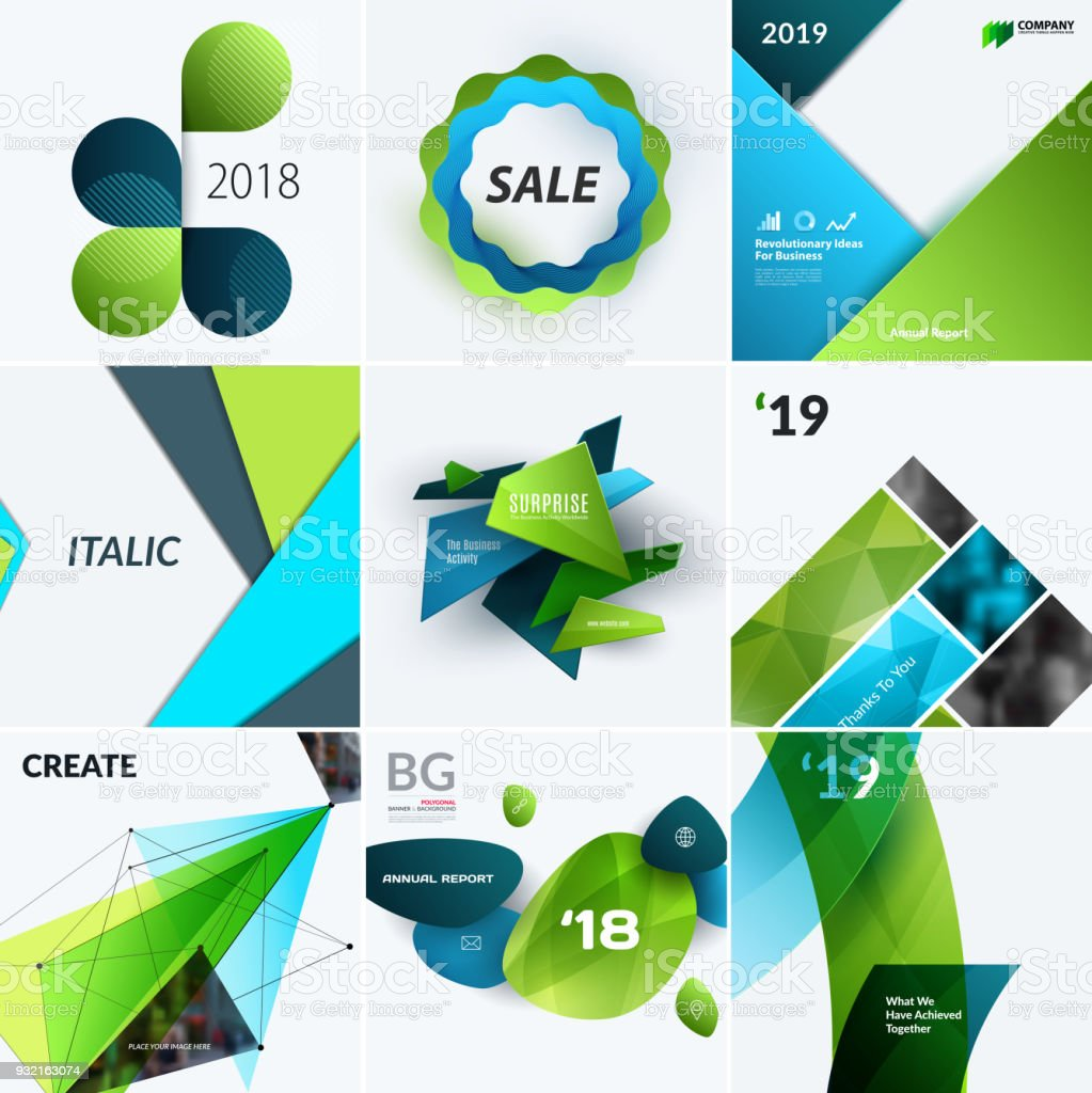 Set of abstract vector design for graphic template creative modern set of abstract vector design for graphic template creative modern business background with geometric shapes flashek Gallery