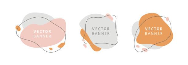 stockillustraties, clipart, cartoons en iconen met set van abstracte vector moderne achtergrond. geometrische illustratie sjabloon achtergrond. platte kleurrijke vloeibare vorm. - vorm