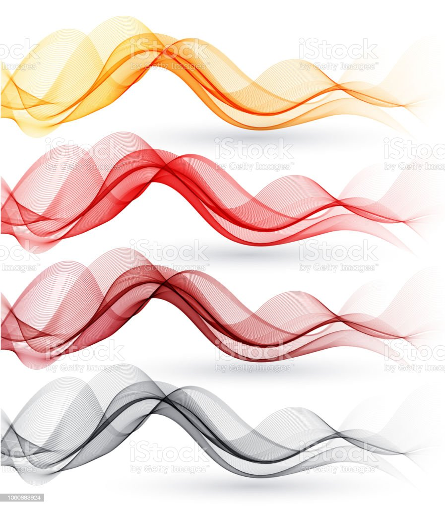Set of abstract waves. Vector illustration vector art illustration