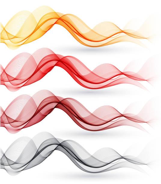Set of abstract waves. Vector illustration vector art illustration