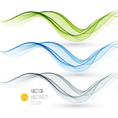 Set of abstract color waves. Vector illustration EPS 10