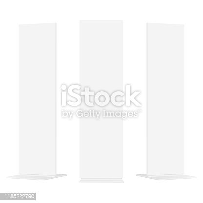 Set of advertising totems isolated on white background. Vector illustration