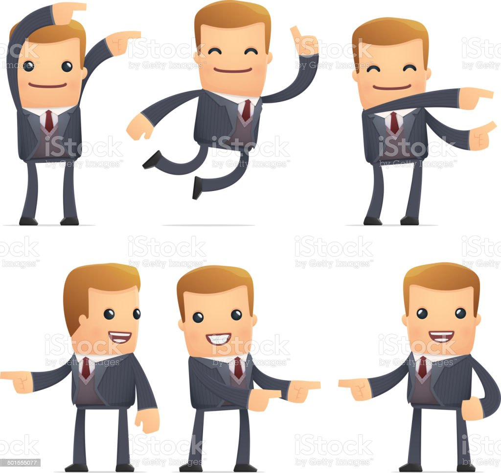set of advisor character in different poses royalty-free stock vector art