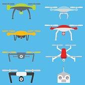 Set of aerial drones