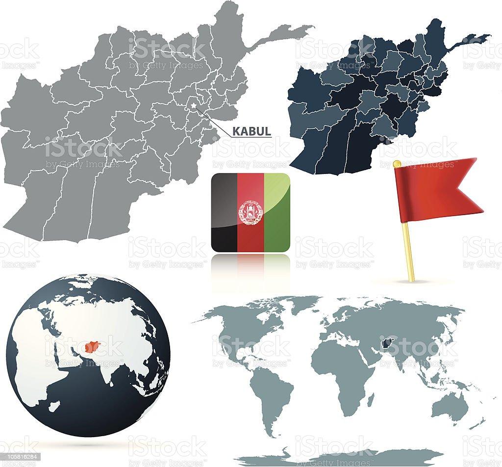Set of Afganistan vector maps royalty-free set of afganistan vector maps stock vector art & more images of afghanistan