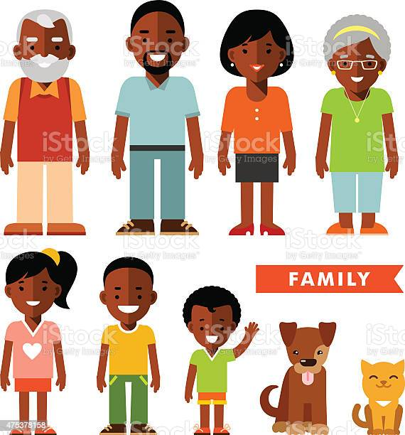 Set of african american ethnic family members in flat style vector id475378158?b=1&k=6&m=475378158&s=612x612&h=0itnyzma7jigrv zb4czvwchwcgw7eyxmstuepo63n0=