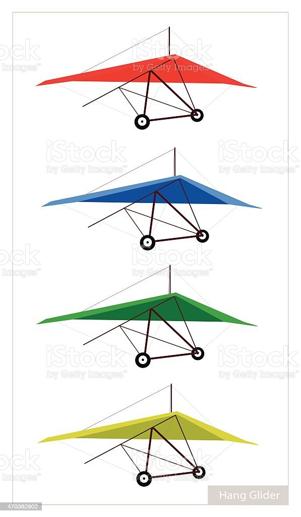 Set of Air Sport on A White Background vector art illustration