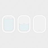 Set of aircraft windows.