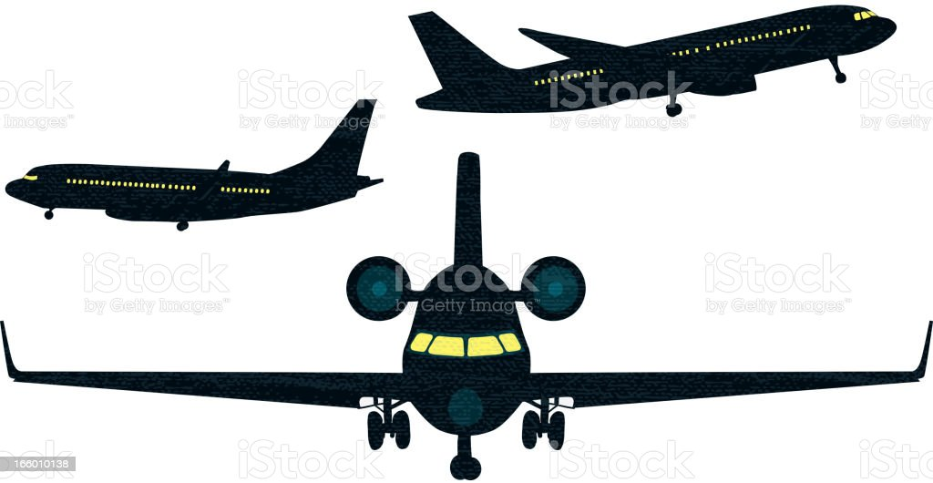 Set of airplane and jet silhouettes on white backgound royalty-free set of airplane and jet silhouettes on white backgound stock vector art & more images of air vehicle