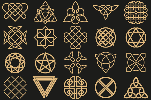 Celtic tattoo stock illustrations