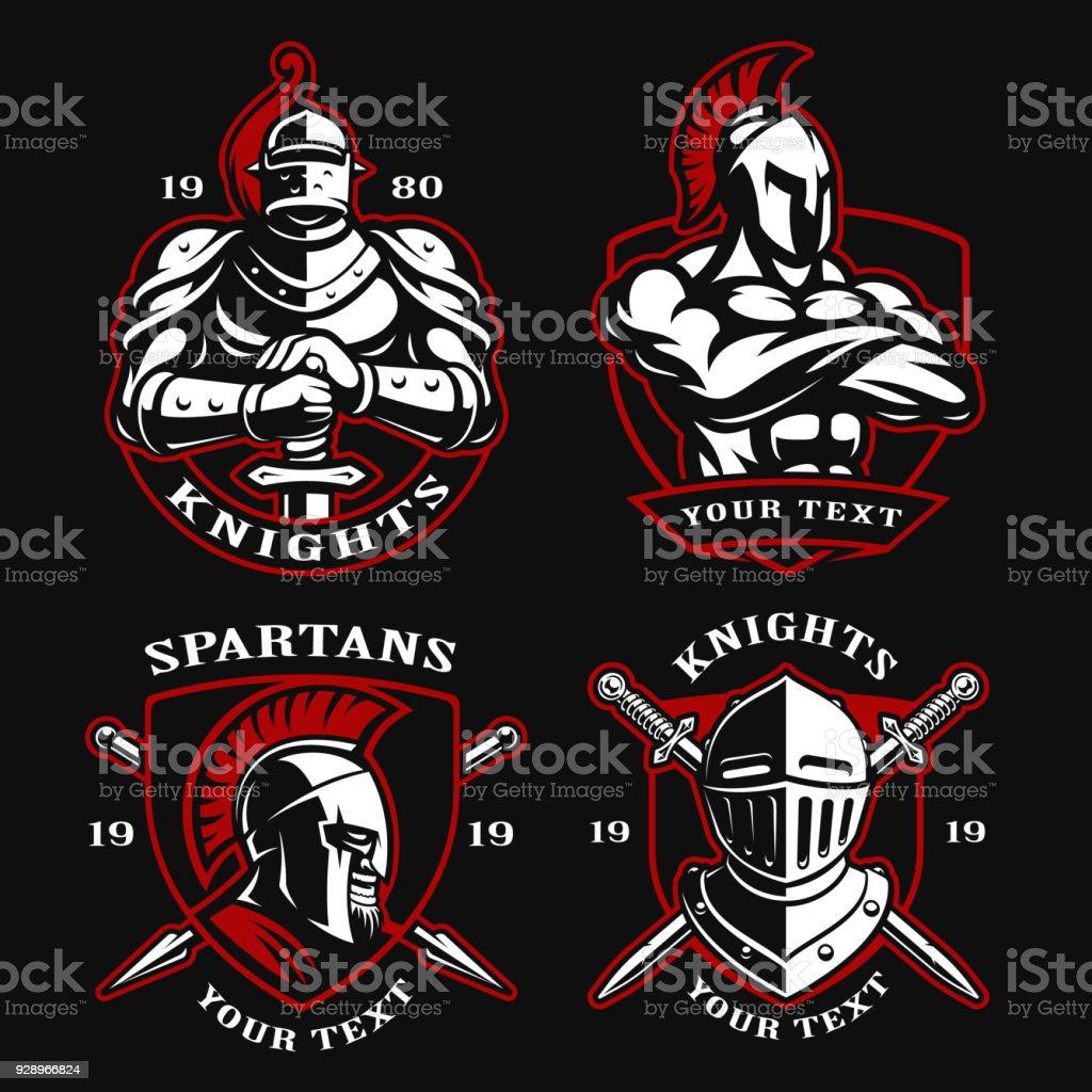 Set of ancient warriors