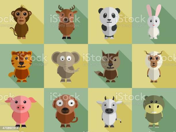 Set of animal characters vector id470892314?b=1&k=6&m=470892314&s=612x612&h=p7ngbcp05sycisk4omsa8dwhdkfutpxhm xkfvcq tc=