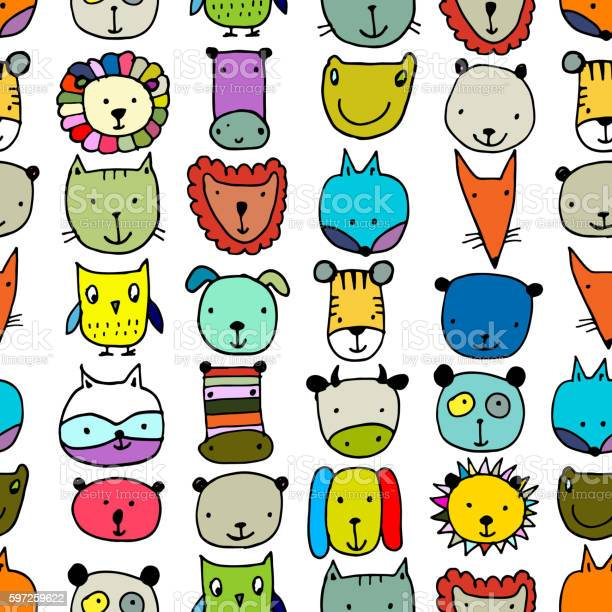 Set of animal faces sketch for your design vector id597259622?b=1&k=6&m=597259622&s=612x612&h=lpx1exyjokhinunbqnjo9 e52grsh3xywvf5de0oauy=