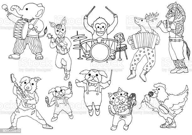 Set of animal music band funny hand drawn vector illustration design vector id926055610?b=1&k=6&m=926055610&s=612x612&h=0z7eeksmdb9gpselb7u0ewptp7bb3j3m 7qopdvxldg=