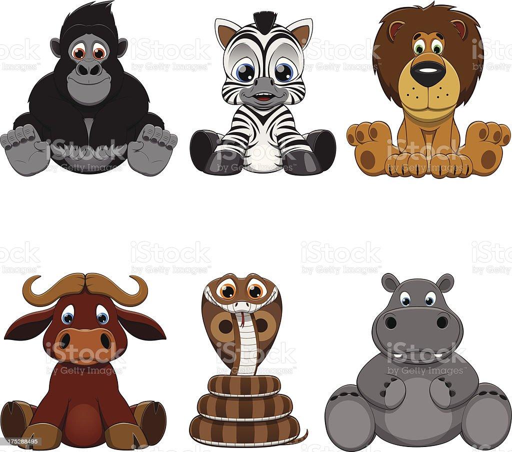 set of animals royalty-free stock vector art
