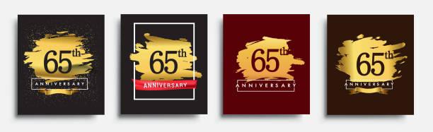 Set of Anniversary logo vector art illustration