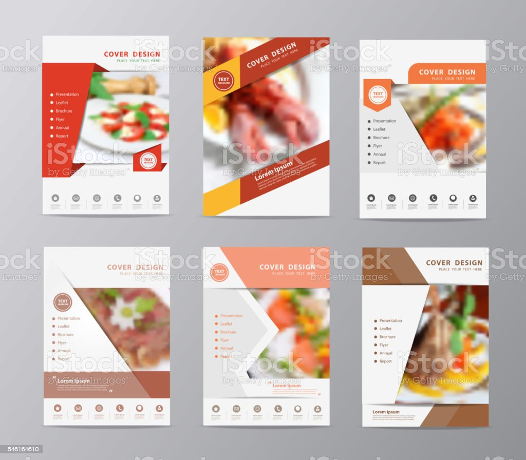 food brochure templates - set of annual report brochure flyer design template food