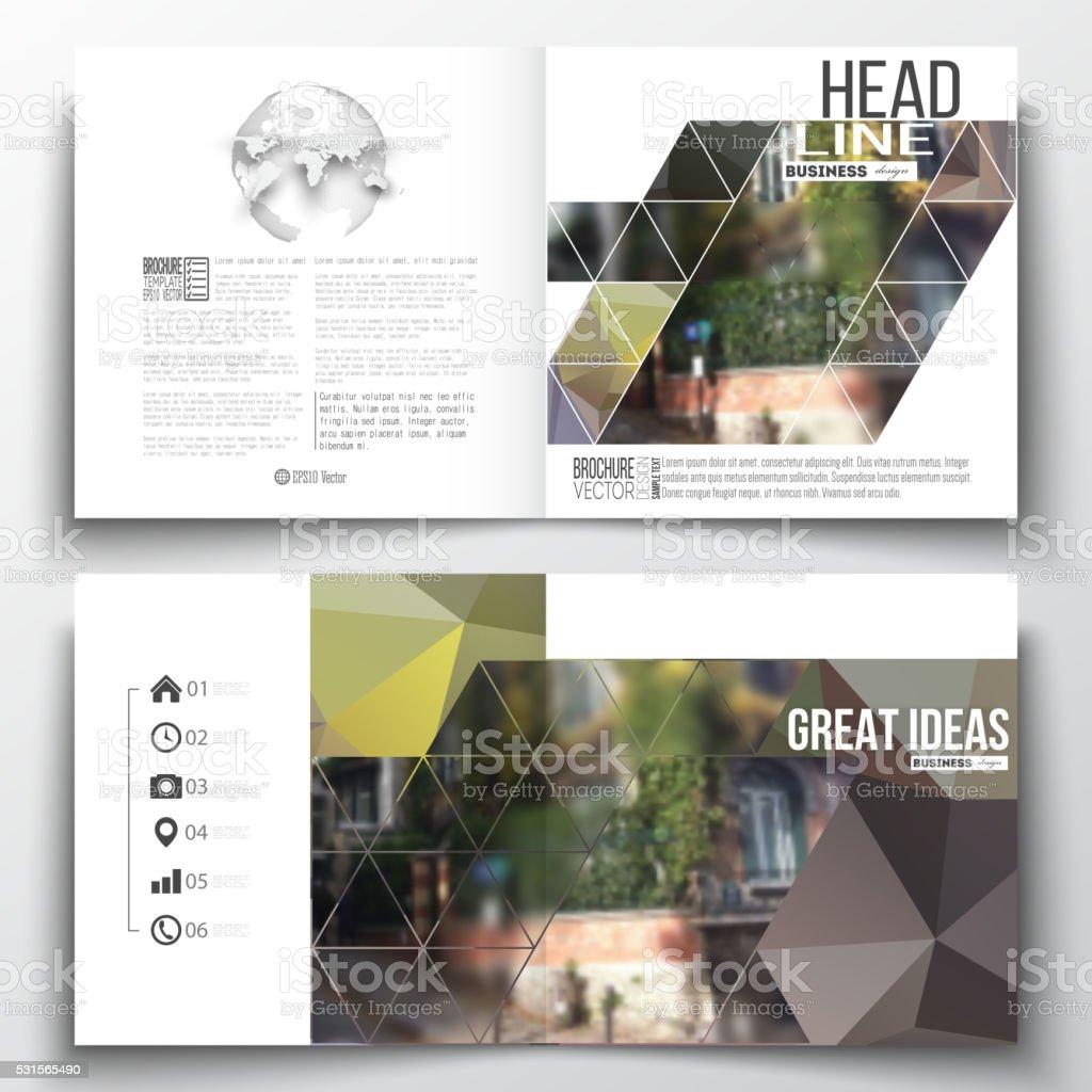Set of annual report business templates for brochure, magazine, flyer vector art illustration
