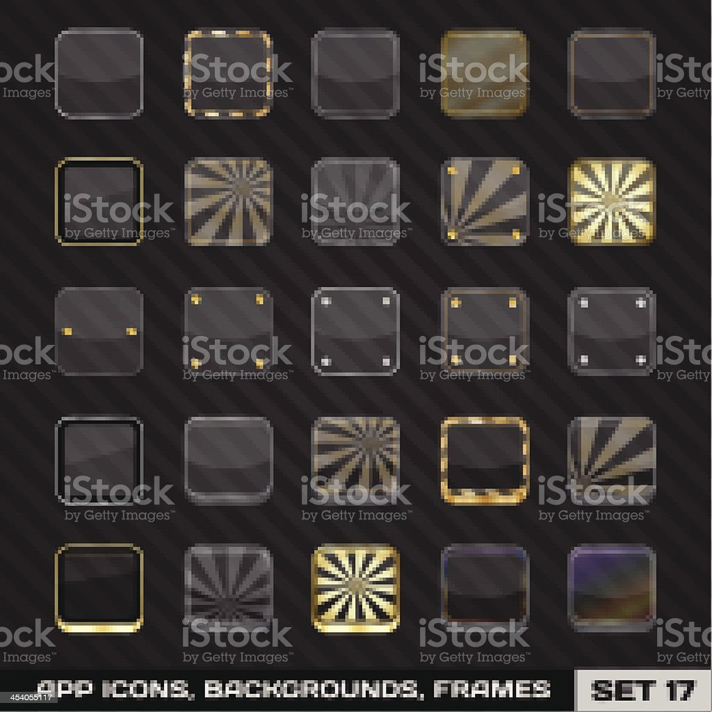 Set Of App Icon Frames Templates Backgrounds Stock Vector Art & More ...